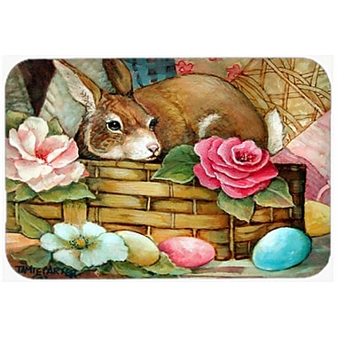 The Holiday Aisle A Touch of Color Rabbit Easter Glass Cutting Board