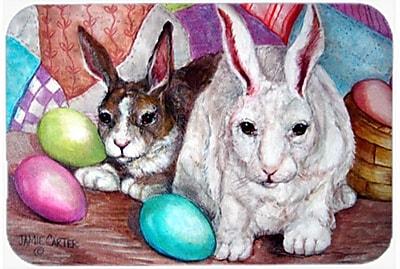 The Holiday Aisle Buddy Buddies Easter Rabbit Glass Cutting Board