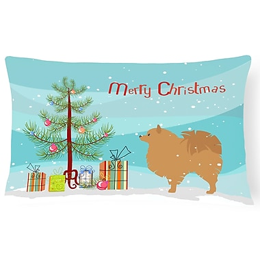 The Holiday Aisle Pomeranian Indoor/Outdoor Lumbar Pillow