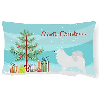 The Holiday Aisle Samoyed Indoor/Outdoor Lumbar Pillow