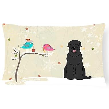 The Holiday Aisle Christmas Gray Indoor/Outdoor Lumbar Pillow