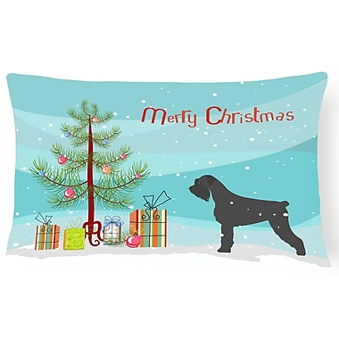 The Holiday Aisle Giant Schnauzer Indoor/Outdoor Lumbar Pillow