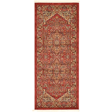 World Menagerie Zoey Red Area Rug; 6'7''x 2'7''