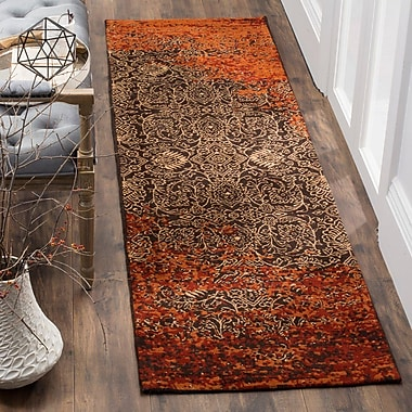 World Menagerie Anwick Rust/Brown Area Rug; Rectangle 5' x 8'