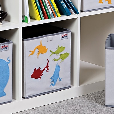 Trend Lab Dr. Seuss One Fish Two Fish Fabric Storage Bin