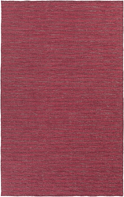 Union Rustic Walton Burgundy/Cherry Area Rug; 3'3'' x 5'3''