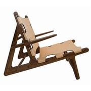 Union Rustic Oak Lounge Chair