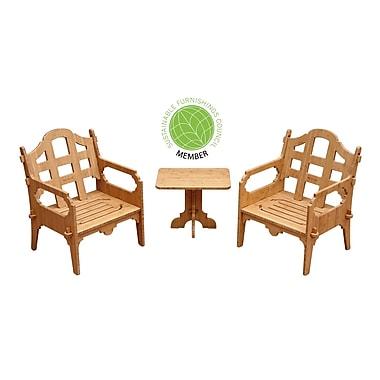 Loon Peak Burliegh Modern 3 Piece Lounge Seating Group