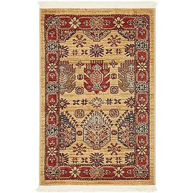 World Menagerie Valley Beige Area Rug; 3' x 2'2''
