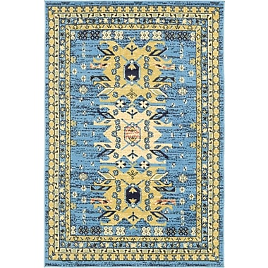 World Menagerie Valley Light Blue Area Rug; 4' x 6'
