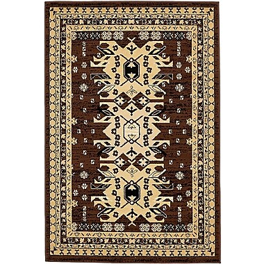 World Menagerie Valley Brown Area Rug; 4' x 6'