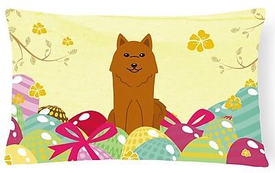 The Holiday Aisle Easter Eggs Karelian Bear Dog Lumbar Pillow