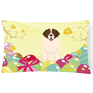The Holiday Aisle Easter Eggs Moscow Watchdog Lumbar Pillow