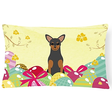The Holiday Aisle Easter Eggs Manchester Terrier Lumbar Pillow