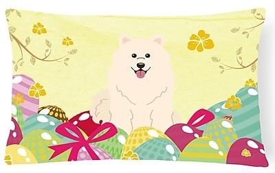 The Holiday Aisle Easter Eggs Samoyed Lumbar Pillow