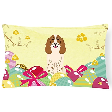The Holiday Aisle Easter Eggs Russian Spaniel Lumbar Pillow