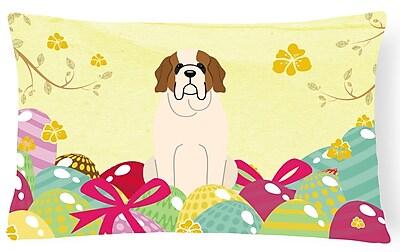The Holiday Aisle Easter Eggs Saint Bernard Lumbar Pillow