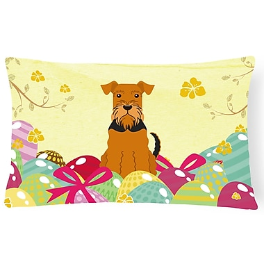 The Holiday Aisle Easter Eggs Airedale Lumbar Pillow