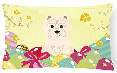 The Holiday Aisle Easter Eggs Westie Lumbar Pillow