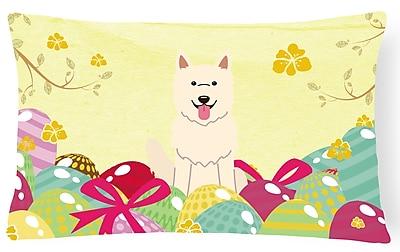 The Holiday Aisle Easter Eggs German Shepherd Rectangular Lumbar Pillow