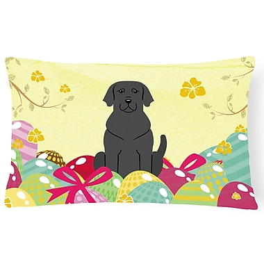 The Holiday Aisle Easter Eggs Labrador Lumbar Pillow
