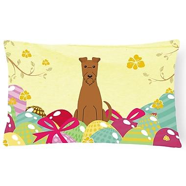 The Holiday Aisle Easter Eggs Irish Terrier Lumbar Pillow