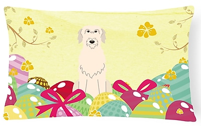 The Holiday Aisle Easter Eggs Irish Wolfhound Lumbar Pillow