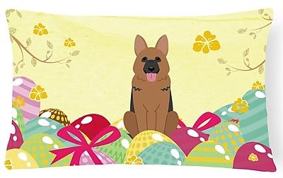 The Holiday Aisle Easter Eggs German Shepherd Lumbar Pillow