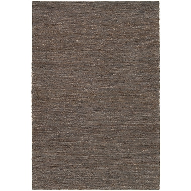 Williston Forge Bedford Hand-Woven Brown/Gray Area Rug; 2' x 3'