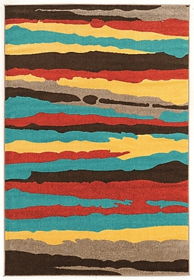 Williston Forge Thorton Turquoise Area Rug; 5' x 7'