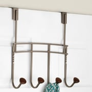 Winston Porter 4 Hook Wall Mounted Coat Rack; Coffee/Graphite