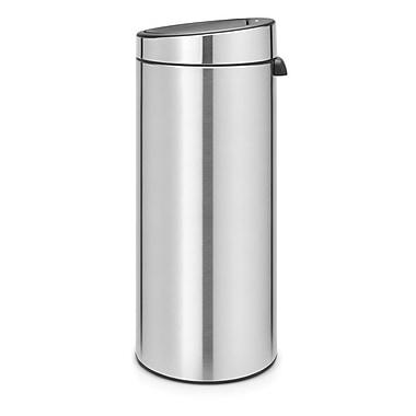 Brabantia Fingerprint Proof Steel 8 Gallon Touch Top Trash Can