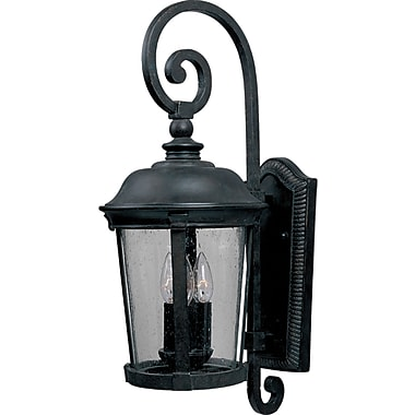 Darby Home Co Arsenault 3-Light Outdoor Wall Lantern; Small
