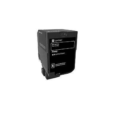 Lexmark - Cartouche de toner CS720, CS725 haut rendement, noir (74C0H10)
