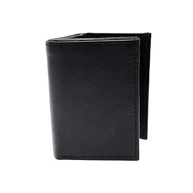 ASHLIN ? Portefeuille Landon à 3 volets, 2 pièces d?identité et 9 pochettes pour cartes, noir (6402-07-01)