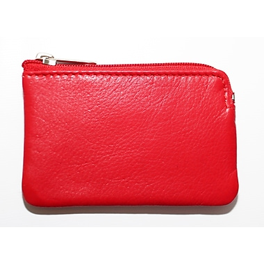 Ashlin® Adelle Zippered Change-Card Case, Red (K258-48-47)
