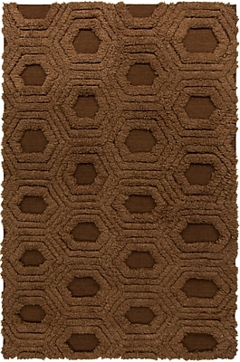 George Oliver Burchfield Mocha Geometric Rug; 2' x 3'