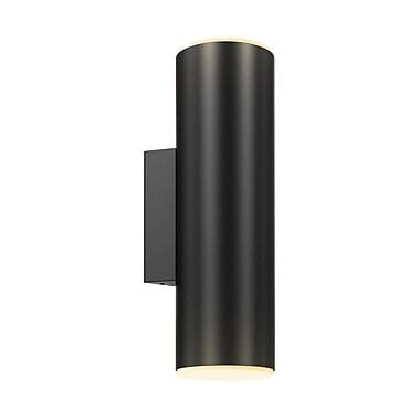Orren Ellis Josie Round Cylinder 1-Light Flush Mount; Black