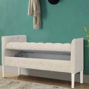 Ophelia & Co. Ghent Wood Storage Bench; Cream