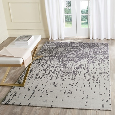 Ophelia & Co. Ellicottville Hand-Tufted Brown/Gray Area Rug; Square 6'