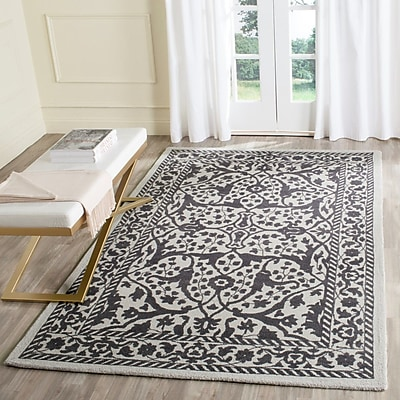 Ophelia & Co. Ellicottville Hand-Tufted Silver/Gray Area Rug; 5' x 8'