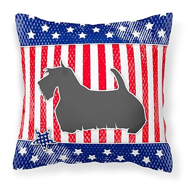 The Holiday Aisle Patriotic Contemporary Fabric Indoor/Outdoor Throw Pillow; 18'' H x 18'' W x 3'' D
