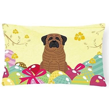 The Holiday Aisle Easter Eggs Mastiff Lumbar Pillow; Brindle