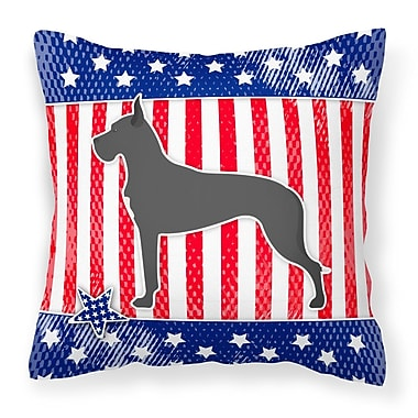 The Holiday Aisle Patriotic Neutral Fabric Indoor/Outdoor Throw Pillow; 14'' H x 14'' W x 3'' D