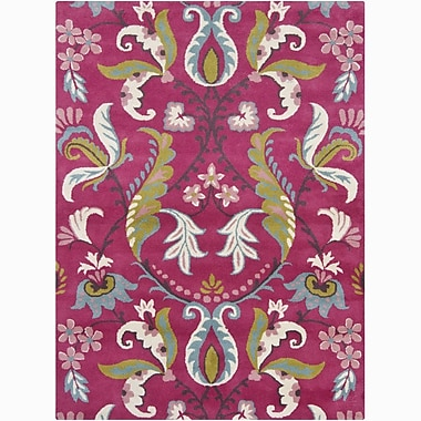 August Grove Lillian Hand Woven Wool Pink Area Rug; 9' x 13'