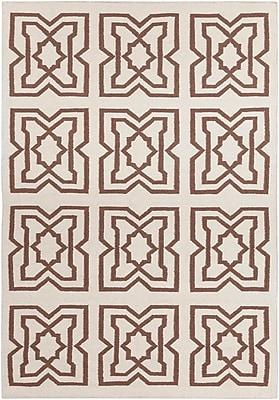 Highland Dunes Hummel Mocha Abstract Rug; 5' x 7'