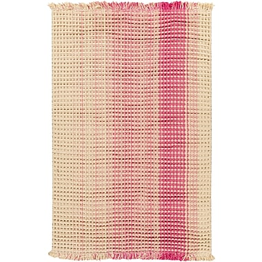 August Grove Rhiannon Hand-Woven Hot Pink Area Rug; 8' x 10'