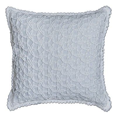 Highland Dunes Burruss Crochet 100pct Cotton Throw Pillow; White