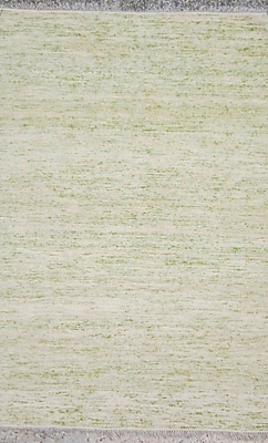 Ivy Bronx Duquette Ivory/Olive Area Rug; 4' x 6'