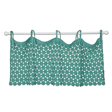 Bungalow Rose Atler Crochet 45'' Window Valance; Teal